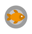 tray with delicious fish vector image vector image