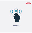 two color doorbell icon from smart house concept vector image