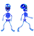 Two walking skeletons vector image vector image