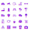 village gradient icons on white background vector image