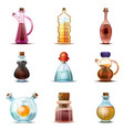 vinegar icon set cartoon style vector image