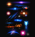 Realistic Lens Flare and Light Effect Element vector image