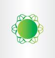 atom or molecule chemistry sign science icon vector image