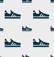 Running shoe icon sign Seamless pattern with vector image