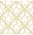 art deco pattern seamless geometric vintage vector image