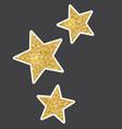 beautiful golden glitter sparkles stars vector image vector image