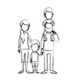 blurred silhouette caricature faceless family vector image vector image