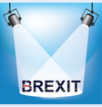 brexit lamp vector image vector image