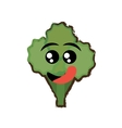 broccoli expressions hungry face vector image