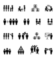 Business and management icons HR vector image