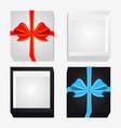 cardboard box with ribbon and bowknot vector image vector image
