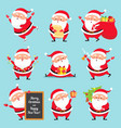 cartoon santa claus christmas holiday greeting vector image vector image