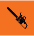 chain saw icon vector image