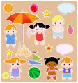 children summer set vector image