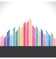 colorful building cityscape stock vector image vector image