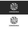 coronavirus logo cell silhouette virus or vector image
