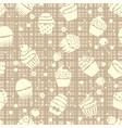 cupcake seamless pattern with cupcakes vector image vector image