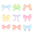 cute color bows vector image vector image