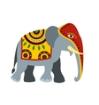 Decorated elephant icon flat style vector image