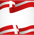 decoration of denmark insignia on white vector image vector image