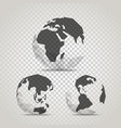 earth with abstract world map infographic vector image