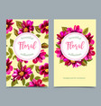 elegant floral collection with isolated flowers vector image vector image