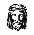 face jesus vector image