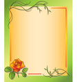 floral frame with rose vector image