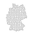 germany map from black pattern from composed vector image vector image