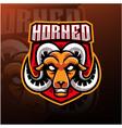 goat head esport mascot logo vector image vector image