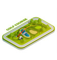 golf course isometric composition vector image vector image