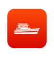 great powerboat icon digital red vector image vector image