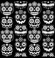 halloween dia de los muertos skulls pattern vector image