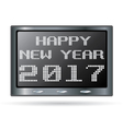 Happy New Year design for Digital Clock isolated vector image