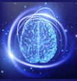 human brain abstract technology background vector image vector image