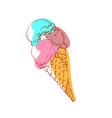 ice cream cone isolated icon vector image vector image