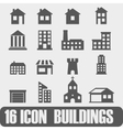 icon buildings on white background vector image vector image