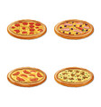 isolated object of pizza and food symbol vector image