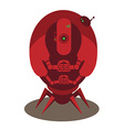 Large red alien robot vector image vector image