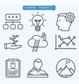 line icons business people in a work process vector image