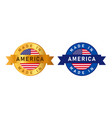 made in america usa united states label stamp for vector image