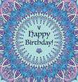 Mandala Happy Birthday Card vector image