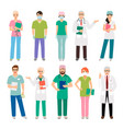 medical staff standing people vector image vector image