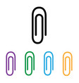 paper clip icon flat isolated on white vector image vector image