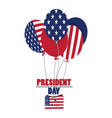 president day label vector image