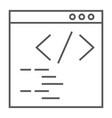 programming thin line icon website development vector image