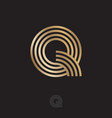 q letter linear logo parallel lines vector image vector image