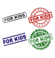 scratched textured for kids seal stamps vector image vector image