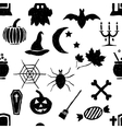 seamless doodle halloween pattern vector image vector image