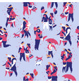 seamless pattern couple in love vector image vector image